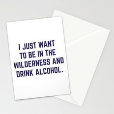 Wilderness & Booze Stationery Cards