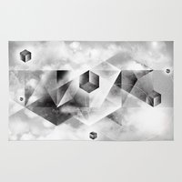 sacred geometry Area & Throw Rugs featuring Sacred Geometry Four by Richard Seyb