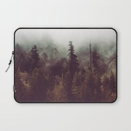 Mountain Morning Mist - Nature Photography Laptop Sleeve