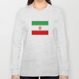 flag of iran- Persia, Iranian,persian, Tehran,Mashhad,Zoroaster. Long Sleeve T-shirt