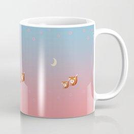 Mama Fox and Kit at Twilight Print Coffee Mug