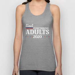 Elect Functioning Adults 2020 Blue Vote the Wave Unisex Tank Top