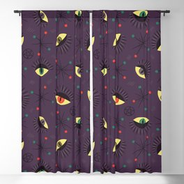 Reptile witch eyes pattern Blackout Curtain
