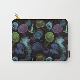 Electric Jellyfish in Black Carry-All Pouch