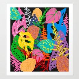 Space leaves dance Art Print
