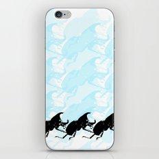 3 Scarabs Blue iPhone & iPod Skin
