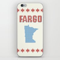 fargo iPhone & iPod Skins featuring Fargo Cross Stitch by Cameron Chapman