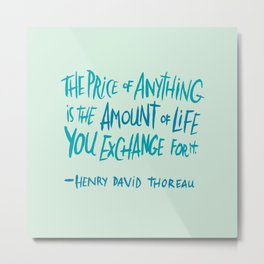 Henry David Thoreau Metal Print