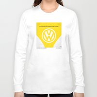 nietzsche Long Sleeve T-shirts featuring No103 My Little Miss Sunshine movie poster by Chungkong