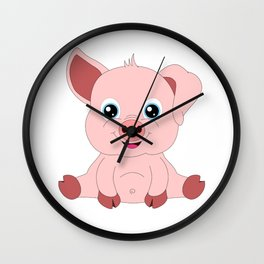 Year of the Pig Piggy Piglet Lover Luck Gift Wall Clock