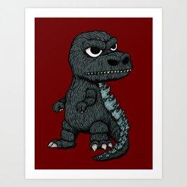 Baby Godzilla Art Print