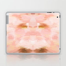 Abstract minimal peach, millennial pink, white and gold painting Laptop & iPad Skin