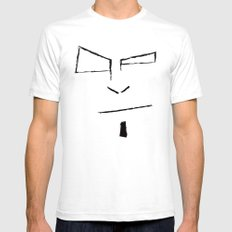 Sketch Face SMALL Mens Fitted Tee White