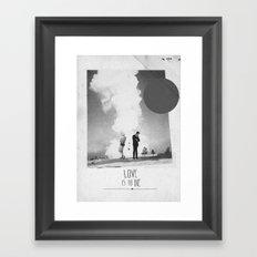 Love Is To Die | Collage Framed Art Print