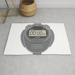 Retro Digital Stopwatch Rug