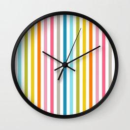 rainbow stripe Wall Clock