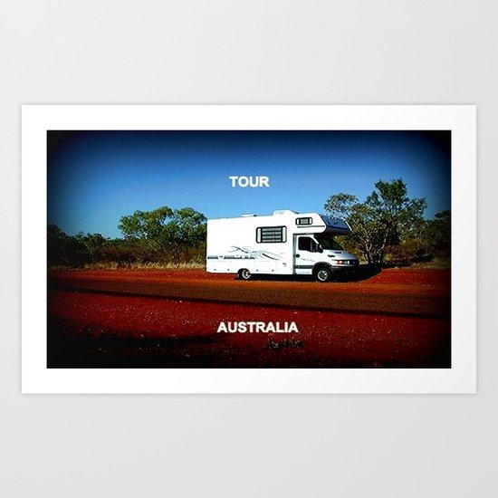 Tour Australia Art Print