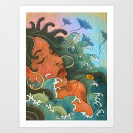 Water Maiden Art Print