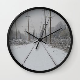 Winter Tracks Wall Clock