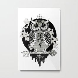 The owl Metal Print