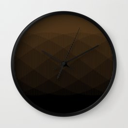 Brown to Black Ombre Signal Wall Clock