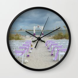 Wedding on the Beach Wall Clock