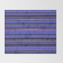 Blue-Purple Striped Pattern Throw Blanket