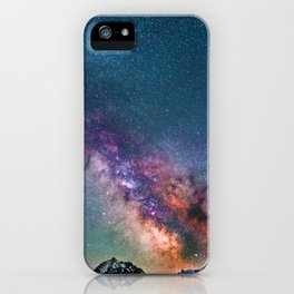 Pastel Galaxy of Mountains (Color) iPhone Case