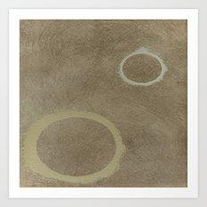 Two Circles - Modern Art - Abstract - Fine Art - California Cool Art Print