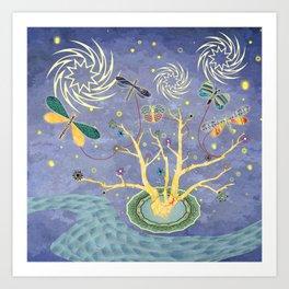 Nite Kites Art Print