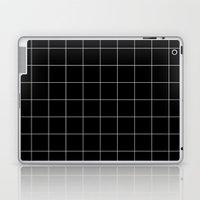 Black Grid /// www.pencilmeinstationery.com Laptop & iPad Skin