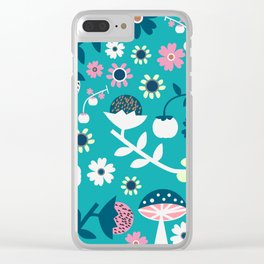 Sweet woodland pattern Clear iPhone Case