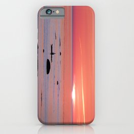 Kayaker and Bird at Last Light iPhone Case
