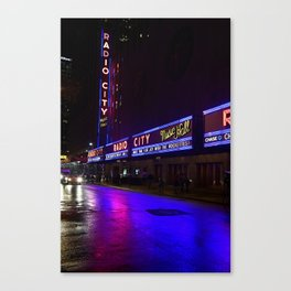 Reflections of Radio City Music Hall Canvas Print