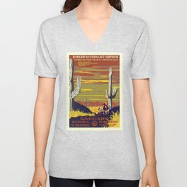 National Parks 2050: Sagauro Unisex V-Neck