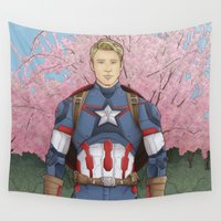 captain silva Wall Tapestries featuring Oh Captain! My Captain! by dephigravity