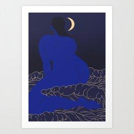 Moonlit Babe Art Print