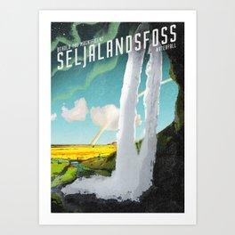 Iceland: Seljalandsfoss Waterfall Art Print