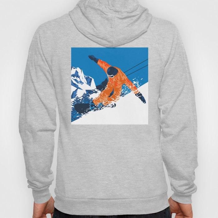 Snowboard Orange Hoody
