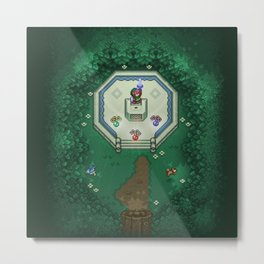 Zelda Mastesword Pixels Metal Print