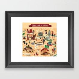 Edible Map of Dublin Framed Art Print