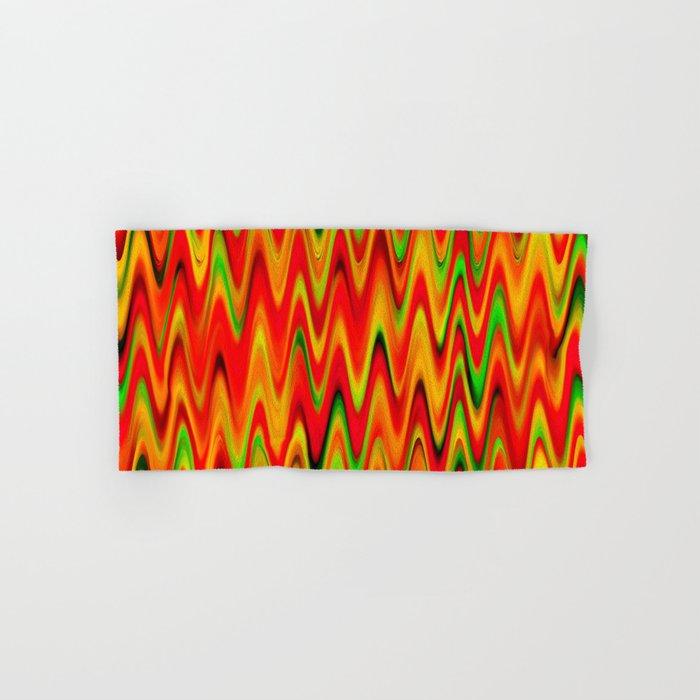 WAVY #1 (Reds, Oranges, Yellows & Greens) Hand & Bath Towel
