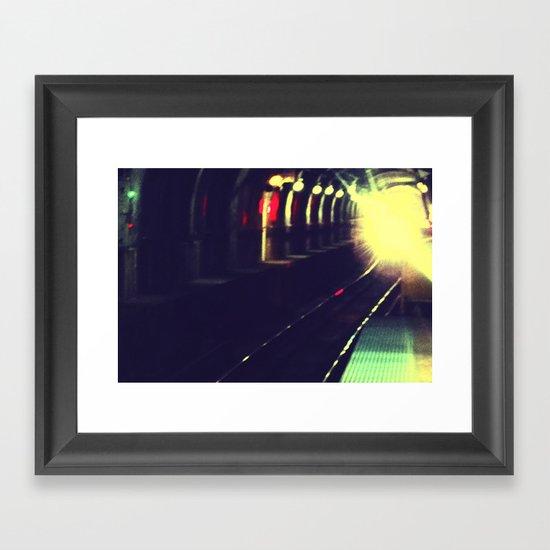 Do not walk into the light Framed Art Print