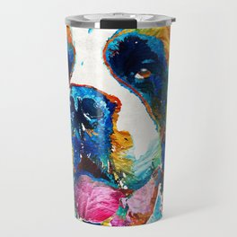 Colorful Saint Bernard Dog by Sharon Cummings Travel Mug
