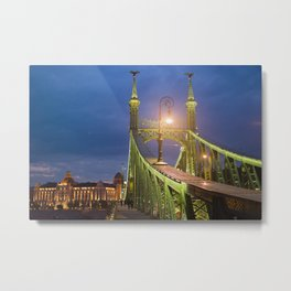 Budapest Bridge Metal Print
