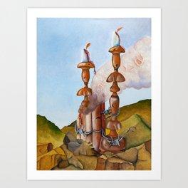 Five Chimneys (Oil) Art Print