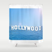hollywood Shower Curtains featuring Sea Hollywood by Lord Solomon's Gallery