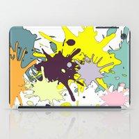 splatter iPad Cases featuring Splatter by fauzita