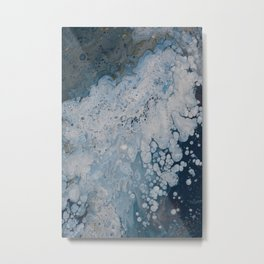 Frozen Waters Acrylic Pour Vector Metal Print