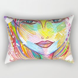 """""""What if I Fall? """"Oh, But My Darling, What if You Fly?"""" Rectangular Pillow"""